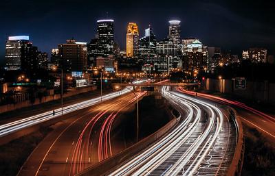 Minneapolis from E. 24th Street Bridge