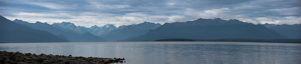 Middle and North Ford from Lake Te Anau