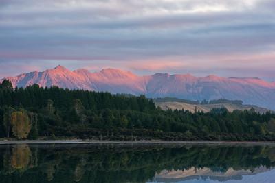 Brunel Peaks from Te Anau