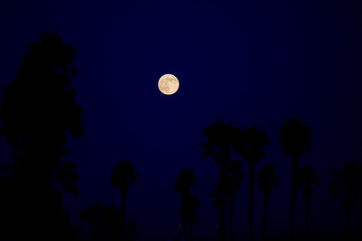 Moonrise Over Balboa Peninsula