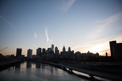 Philidelphia Skyline from South Street Bridge