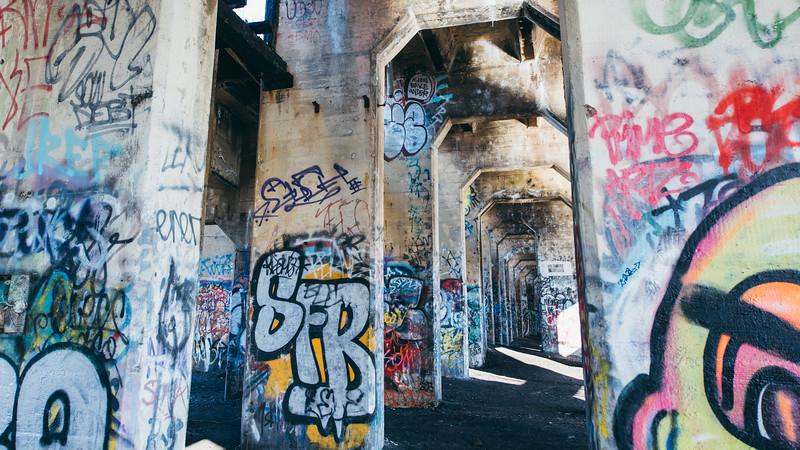 Inside Philidelphia Graffiti Pier III
