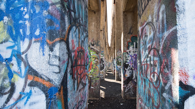Inside Philidelphia Graffiti Pier II