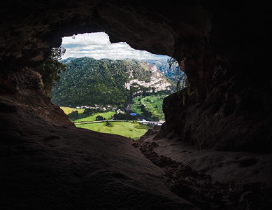 Cueva Ventana (Window Cave) from Inside