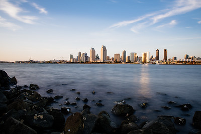 San Diego Skyline from Corona del Mar II