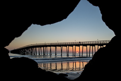 Haskell's Beach Pier Through the Rock Window