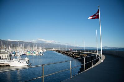 Santa Barbara Harbor Flagpoles