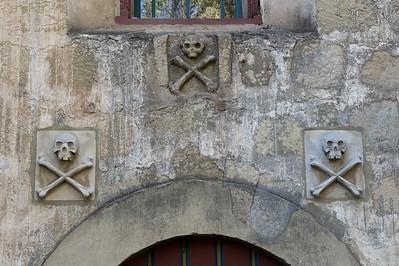 Santa Barbara Mission 3 Skulls