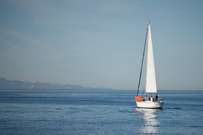 Sailboat in Santa Barbara Channel
