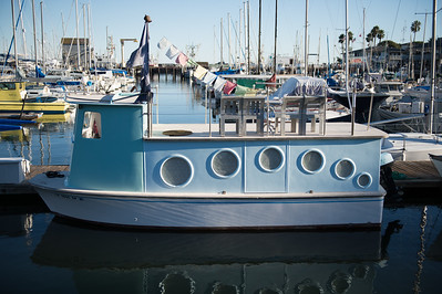 Ecclectic Fishing Boat at Santa Barbara Harbor