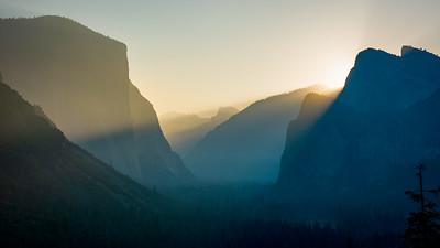 Yosemite Valley Sunrise Tunnel View
