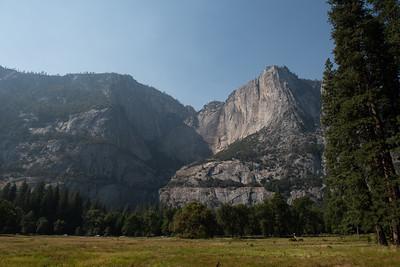 Yosemite Falls from Sentinel Bridge Parking Lot