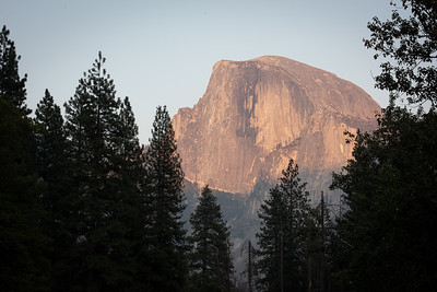Half Dome Sunset from Forest