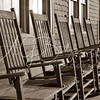 Deck Chairs in B&W
