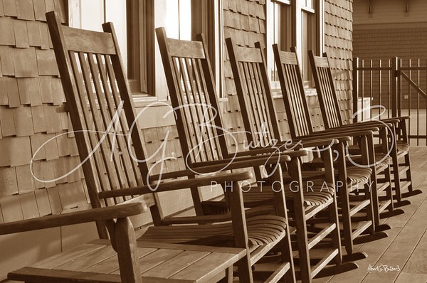 Deck Chairs in Sepia