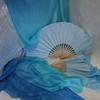 $110/pair  Left/ Right  Blue Breezes/ White Hand  36x60inch  Standard Fan