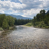 Crossing the Boulder River, a fly fisher's dream spot.