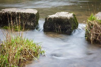 Afon Alun stepping stones