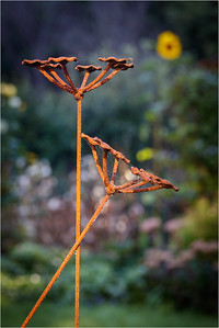 X in garden metalwork