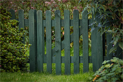Z in picket fence gate