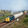55022 'ROYAL SCOTS GREY' rejoins the double track section having eased across Freemans Crossing with the driver tweaking the power handle as it works the 6N69 1754 North Blyth - Lynemouth Alcan tanks on 19th April 2011.