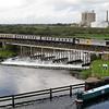 60028 at Newark (River Devon Viaduct, Nether Lock)