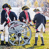 West Jersey Artillery, Continental Army Artillerymen Reenactors firing cannon, Fort Mercer, Red Bank, New Jersey