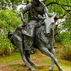 Pioneer Plaza Cattle Drive Bronze Statues by Robert Summers, Dallas, Texas