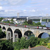 43285 on Coombe-by-Saltash Viaduct