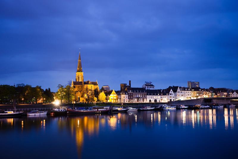 Maastricht, Sint-Martinuskerk and Maas River