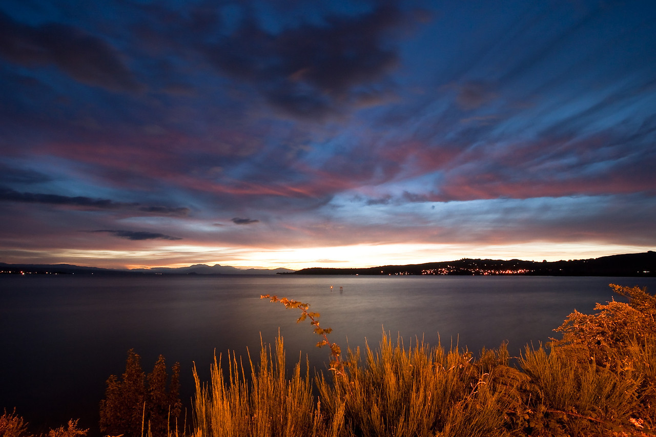 Lake Taupo Sunset, New Zealand