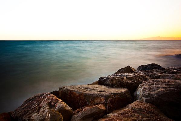 Sunset Lights at Salou Coast