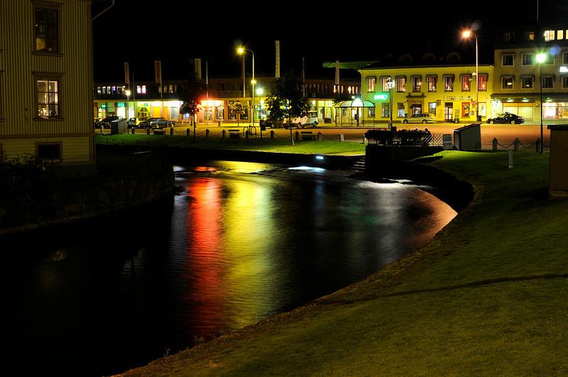 Åmål by night, Sweden
