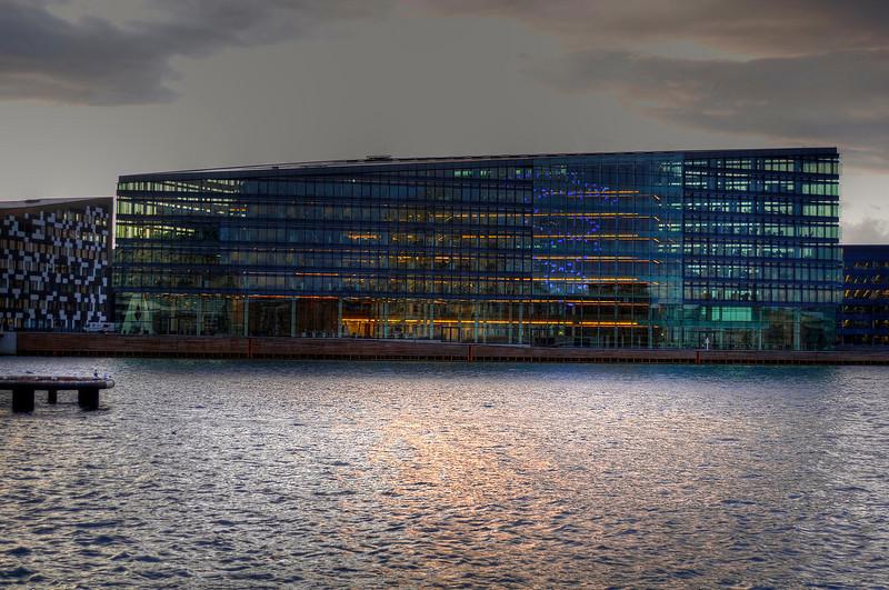 Copenhagen waterfront in the evening