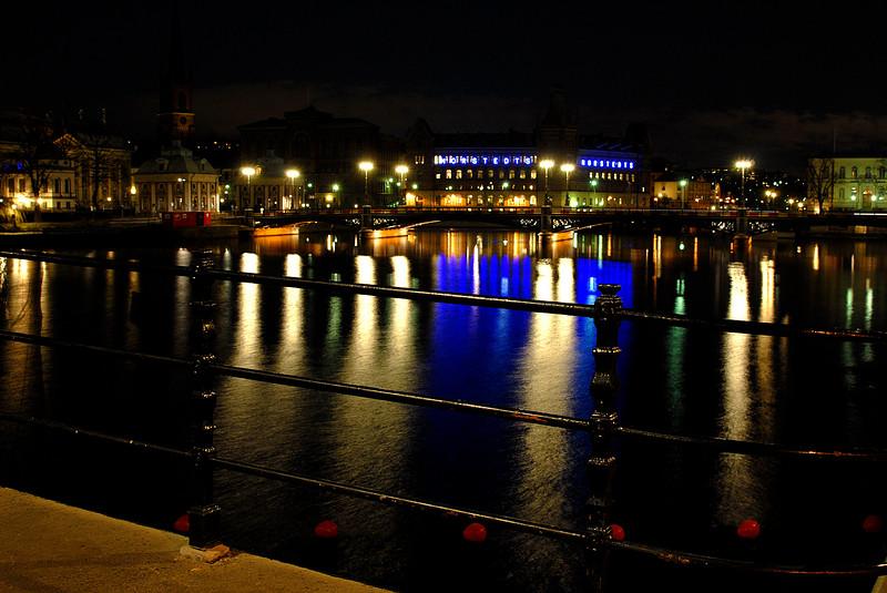 Aften i Stockholm.