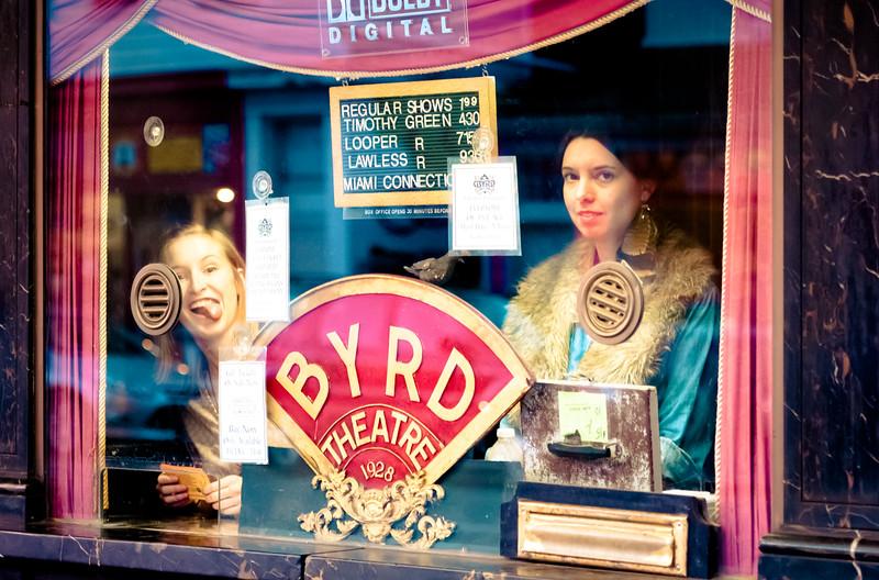 Byrd box office photobomb