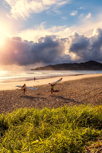 Sunrise at Byron Bay Main Beach.