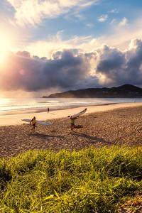 Sunrise at Byron Bay Main Beach.