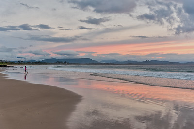 Byron Bay Main Beach at sunrise.