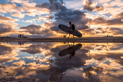 Reflection at Byron Bay Beach.