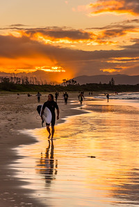 Sunset at Byron Bay.