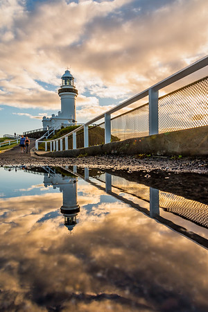 Reflection of Cape Byron Lighthouse.