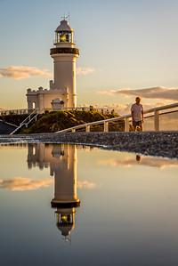 Reflection of Cape Byron Lighthouse.