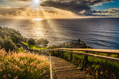 Cape Byron Walking Track at sunrise.