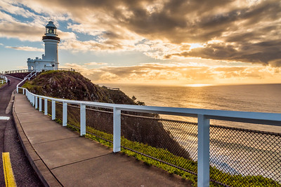 Cape Byron Lighthouse at sunrise.