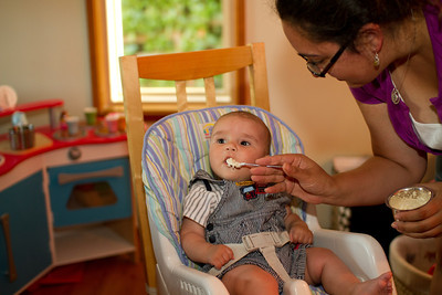 First Solid Foods - Monday, September 5th
