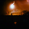 Firefight NE of LZ Bronco:  Illumination Flares fired by C 6/11th, Helicopter gunships firing support for ground troops.  Taken from inside LZ Bronco