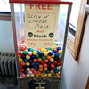 C & M Pizza of Leominster celebrated 55 years in business with a ribbon cutting on Tuesday morning, March 19, 2019. for the entire day they had slices for 55 cents. They stil have a gumball machine for the kids. If you get a balck one you can get a free slice of pizza. SENTINEL & ENTERPRISE/JOHN LOVE
