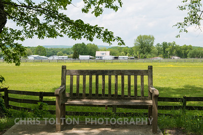 Bench near farm.