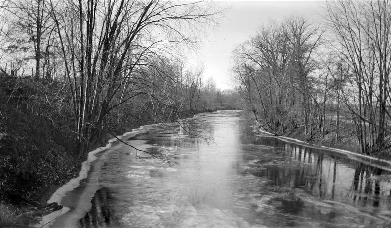 #120 Red Cedar River (Lansing) from S Harrison December 1917
